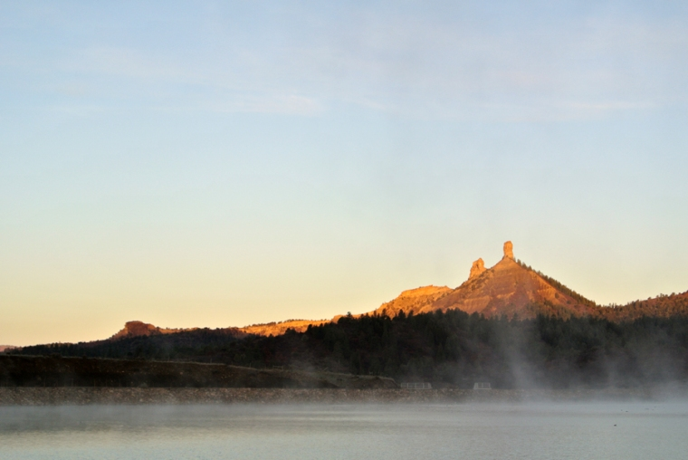 Chimney Rock National Monument, Crépuscule du matin (2)