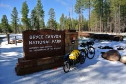 Neige à Bryce Canyon
