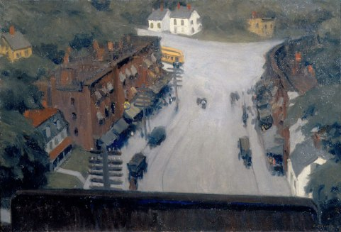 Edward Hopper, American Village, 1912_Huile sur toile, 65,7x96,2 cm_New York, Whitney Museum of American Art