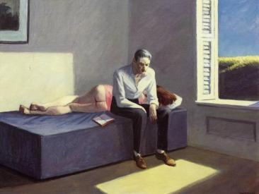 Edward Hopper, Excursion into Philosophy, 1959_Huile sur toile, 76,2x101,6 cm_Collection particulière