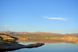 Lake Mead Coucher de soleil