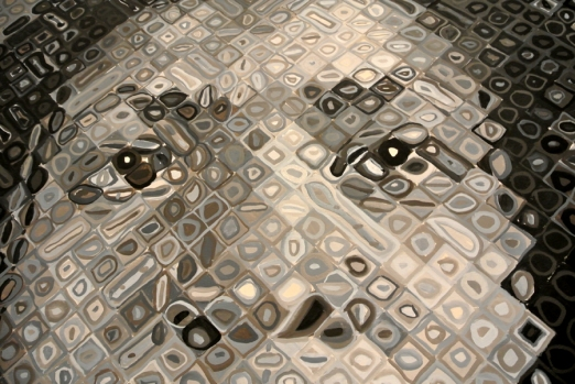 Chuck Close, Lorna, 1995, Oil on Canvas_Détail