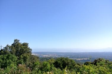 Vue sur Palo alto et la baie