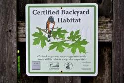 Certified backyard