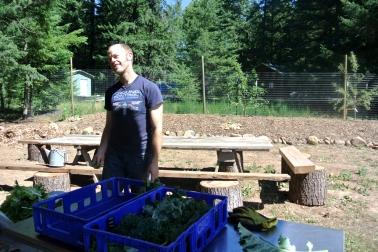 William et la récolte de Kale